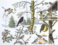 Click for more details of Birds in Winter (cross-stitch) by Eva Rosenstand