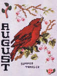 Click for more details of Birds of the Month - August Summer Tanager (cross-stitch pattern) by Stoney Creek