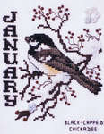 Click for more details of Birds of the Month - January Black-Capped Chickadee (cross stitch) by Stoney Creek