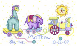 Click for more details of Birth Announcement (cross stitch) by Bobbie G. Designs