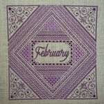 Click for more details of Birthstone Series - Amethyst (cross-stitch pattern) by Northern Expressions Needlework
