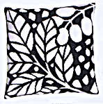 Click for more details of Black and White Leaves Cushion Front (tapestry kit) by Royal Paris