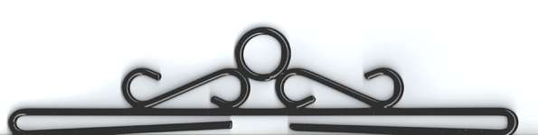Click for more details of Black Bell Pull Hangers (bell pulls) by Permin of Copenhagen