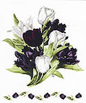 Black Tulips - cross-stitch kit by Marjolein Bastin