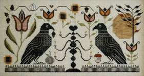 Click for more details of Blackbird Fraktur (cross stitch) by Plum Street Samplers