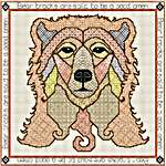 Click for more details of Blackwork Bear (blackwork) by DoodleCraft Design