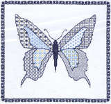 Click for more details of Blackwork Butterfly (blackwork kit) by Classic Embroidery
