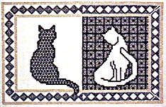 Click for more details of Blackwork Cats (blackwork kit) by Classic Embroidery