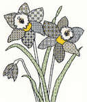 Click for more details of Blackwork Daffodils (blackwork) by Bothy Threads