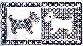 Click for more details of Blackwork Dogs (blackwork kit) by Classic Embroidery
