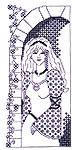 Click for more details of Blackwork Princess (blackwork pattern) by dragon dreams