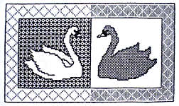 Click for more details of Blackwork Swans (blackwork kit) by Classic Embroidery