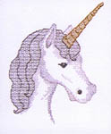 Click for more details of Blackwork Unicorn (blackwork pattern) by dragon dreams