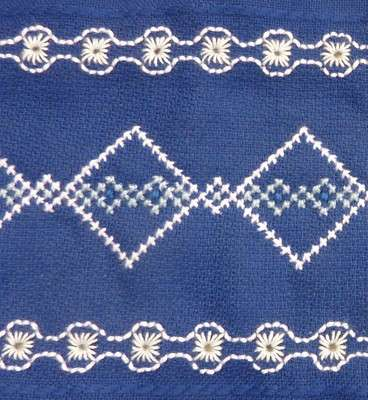 Click for more details of Blue and White Border (cross stitch) by Anne Peden