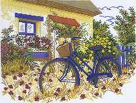 Click for more details of Blue Bicycle (cross stitch) by Eva Rosenstand