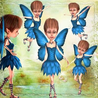 Click for more details of Blue Fairies (digital downloads) by DawnsDesigns