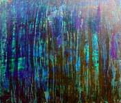Click for more details of Blue in green (mixed media) by vincenzo matarazzo