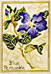 Click for more details of Blue Periwinkle and Sweet Pea (cross-stitch pattern) by Stoney Creek