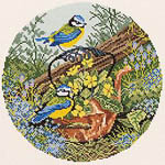 Click for more details of Blue Tits and Copper Kettle (cross-stitch) by Eva Rosenstand