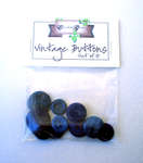 Click for more details of Blue Vintage Buttons x10 (buttons and brads) by Elizabeth Grace