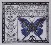 Click for more details of Blue Watercolor Butterfly (cross-stitch pattern) by Rosewood Manor