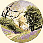 Click for more details of Bluebell Lane (cross stitch) by John Clayton