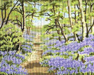 Click for more details of Bluebell Woods (tapestry) by Anchor