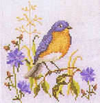 Click for more details of Bluebirds of Happiness (cross stitch) by Crossed Wing Collection