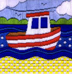 Click for more details of Boat (long-stitch) by Anchor