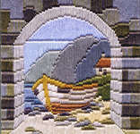 Click for more details of Boat Thro' Archway (long-stitch kit) by Rose Swalwell