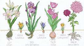 Click for more details of Botanical Flowers (cross-stitch pattern) by Kappie Originals
