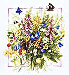 Bouquet of Summer - cross-stitch kit by Marjolein Bastin