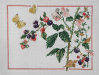 Click for more details of Brambles and Butterflies (cross stitch) by Permin of Copenhagen