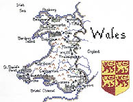 Click for more details of Britain in Stitches - Wales (cross stitch) by Sue Ryder