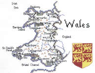 Click for more details of Britain in Stitches - Wales (cross-stitch kit) by Sue Ryder
