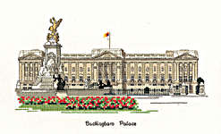 Click for more details of Buckingham Palace (cross stitch) by Sue Ryder