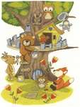Click for more details of Building the Treehouse (cross stitch) by DMC Creative