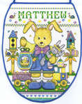 Click for more details of Bunny Boy Easter Egg Bag (cross stitch) by Imaginating