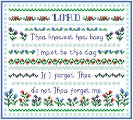 Click for more details of Busy Day (cross-stitch pattern) by Designs by Cathy