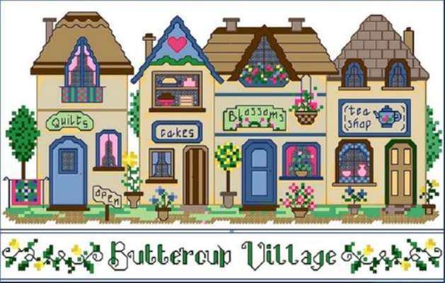 Click for more details of Buttercup Village (cross stitch) by Designs by Cathy