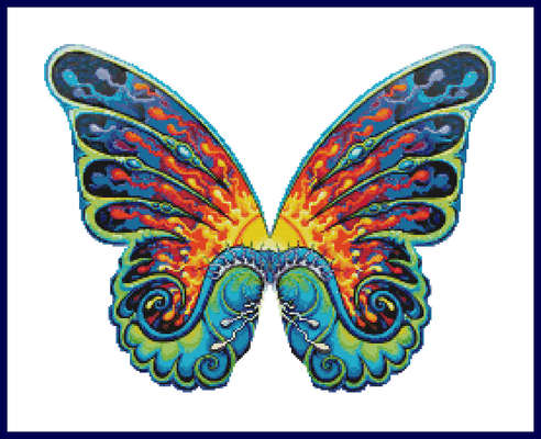 Click for more details of Butterfly (cross-stitch) by The Golden Hoop
