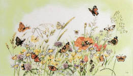Click for more details of Butterfly Meadow (cross-stitch kit) by Marjolein Bastin