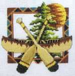 Click for more details of Cabin Classic Afghan (cross-stitch) by Stoney Creek