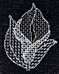 Click for more details of Calla Lily (blackwork) by Classic Embroidery
