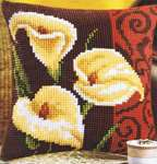 Click for more details of Calla Lily Cushion Front (tapestry kit) by Vervaco