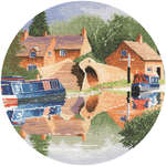 Click for more details of Canal Reflections (cross-stitch pattern) by John Clayton