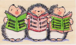 Click for more details of Caroling Hedgehogs (stamps) by Penny Black