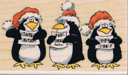 Click for more details of Caroling Penguins (stamps) by Penny Black