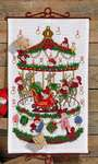 Click for more details of Carousel Advent Calendar (cross stitch) by Permin of Copenhagen