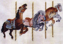 Click for more details of Carousel Quartet (cross-stitch pattern) by X's & Oh's